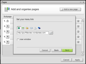 Graphic how to add a page in moonfruit sitemaker