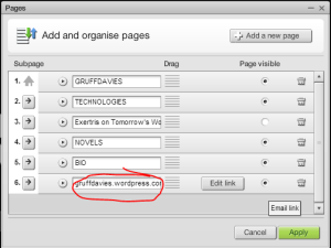 Graphic how to rename a link page in moonfruit sitemaker